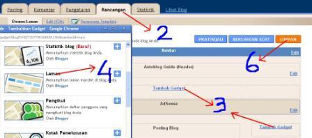 cara buat entri laman di blogspot
