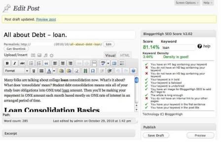cara menggunakan plugin bloggerhighseo