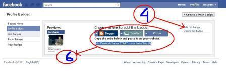 cara membuat dan mengambil lencana profil facebook
