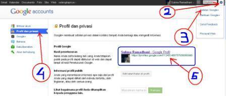 cara mengambil Link halaman profil Google +