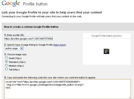 cara membuat badge Google plus