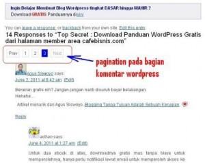 memberi halaman pada komentar wordpress