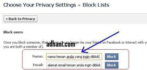 memblokir dari filter pencarian facebook