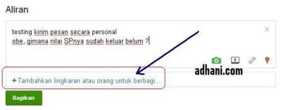 Cara Mengirim PM di Google+