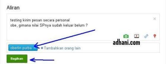 Cara Mengirim PM di Google plus