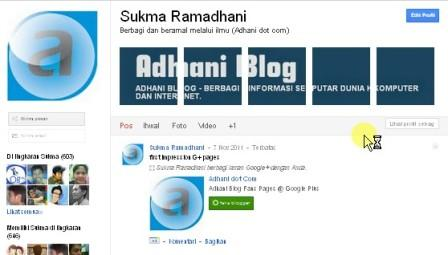Hasil foto banner di google plus