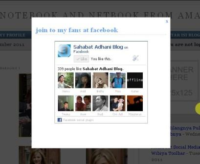 contoh popup like box fans facebook di blogspot