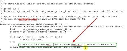 mematikan link author di komentar wordpress