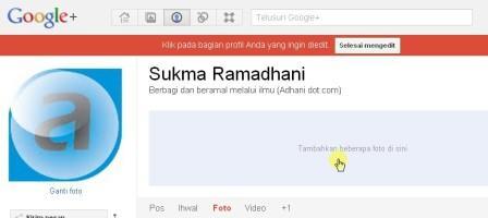 menambahkan banner di google plus