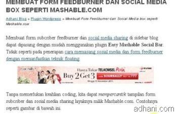 iklan dalam postingan