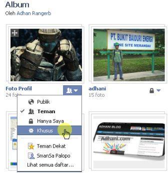 menyembunyikan foto profil facebook