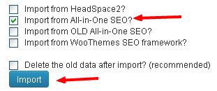 import data dari aio ke wordpress seo