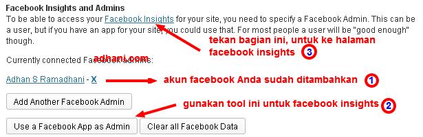 menambahkan facebook insights di wordpress seo by yoast