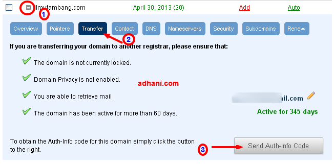 transfer domain dari domain.com ke namecheap