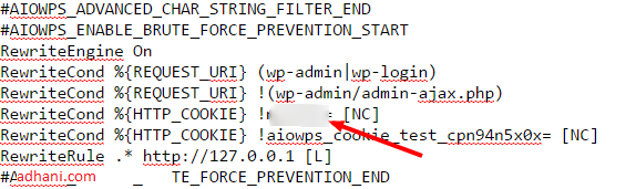 Kata yang dblur tersebut adalah kata pengganti wp-admin