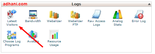 lokasi log latest visitor di cPanel