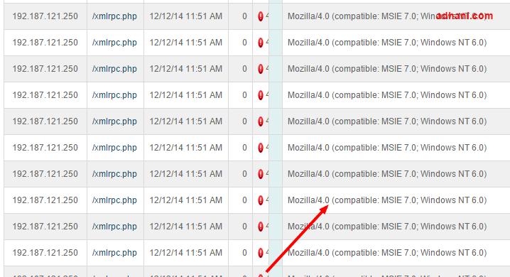 XMLRPC.PHP DDOS attack
