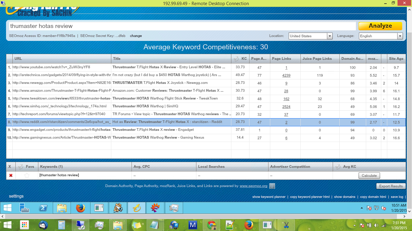long tail keyword di vps windows