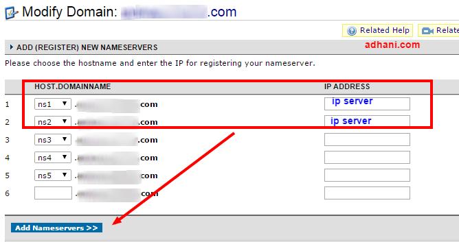 menambahkan ip server di namecheap dns custom