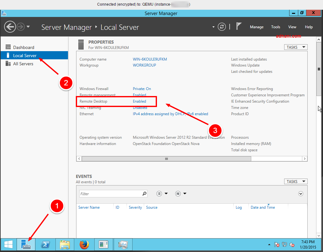 Cara enable RDC di VPS Windows RunAbove