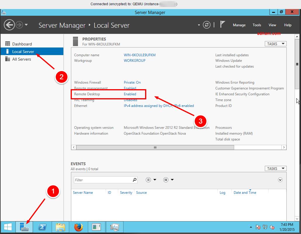 Cara enable RDC di VPS Windows RunAbove